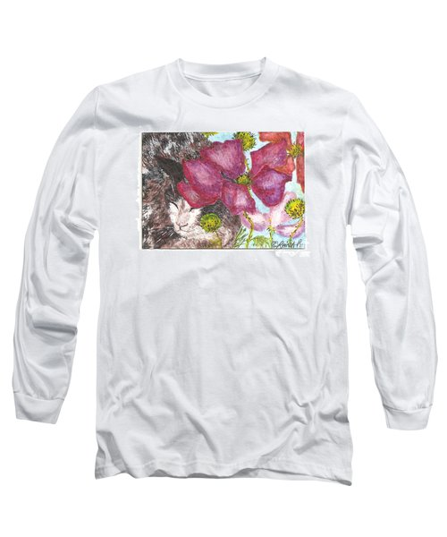 Garden Nap Long Sleeve T-Shirt by Reina Resto