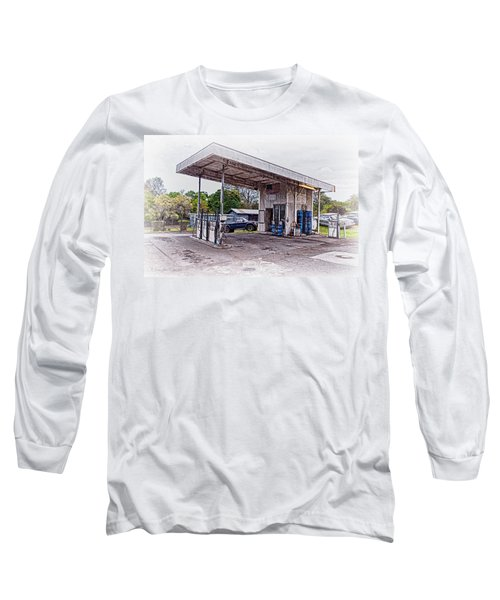 Long Sleeve T-Shirt featuring the photograph Gasoline Station by Jim Thompson