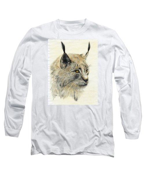 Gazing Lynx Long Sleeve T-Shirt by Phyllis Howard