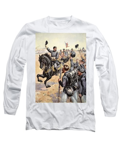 General Mcclellan At The Battle Long Sleeve T-Shirt