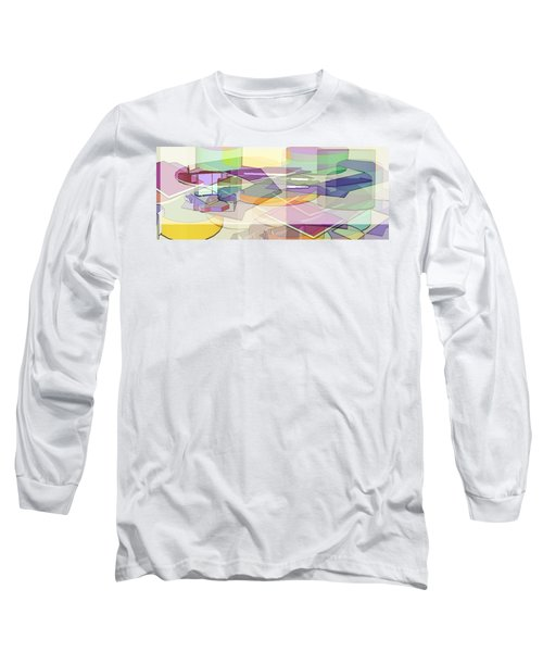 Long Sleeve T-Shirt featuring the digital art Geo-art by Cathy Anderson