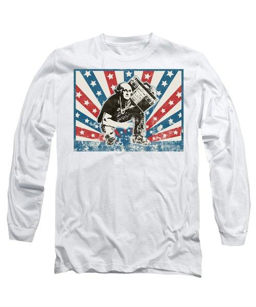 George Washington - Boombox Long Sleeve T-Shirt