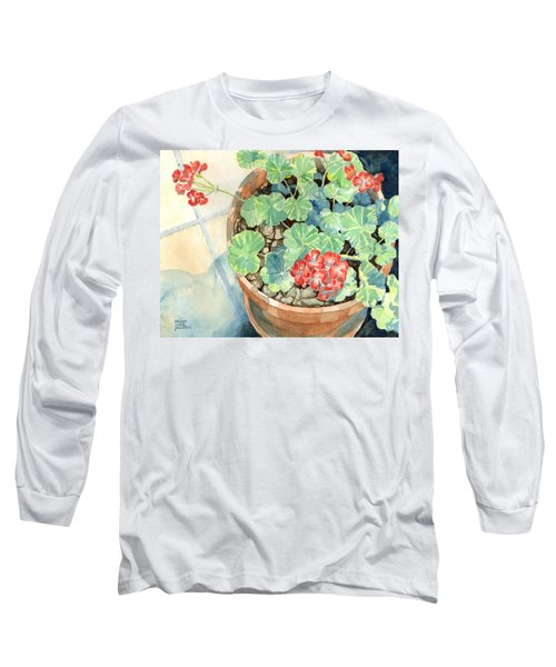 Geraniums Long Sleeve T-Shirt