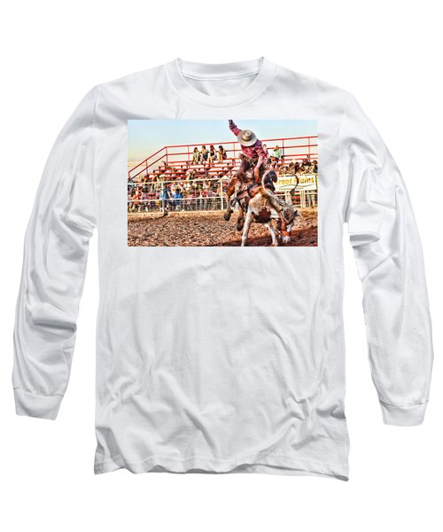 Long Sleeve T-Shirt featuring the photograph Get Off My Back by Toni Hopper