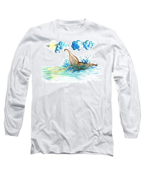 Giant Mermaid Long Sleeve T-Shirt