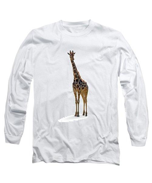 Long Sleeve T-Shirt featuring the photograph Giraffe by Charles Beeler