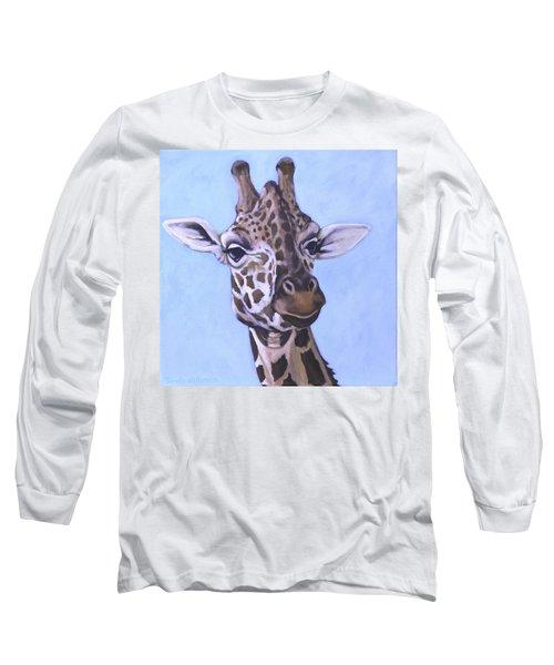 Giraffe Eye To Eye Long Sleeve T-Shirt