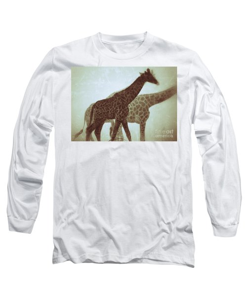 Giraffes In The Mist Long Sleeve T-Shirt