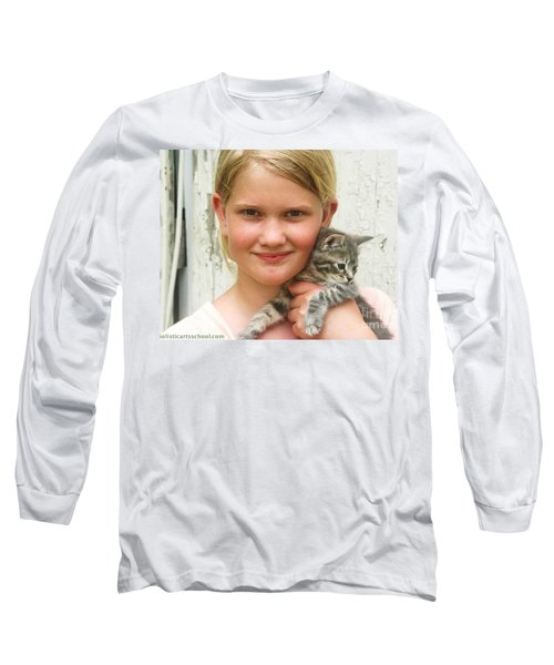 Girl With Kitten Long Sleeve T-Shirt