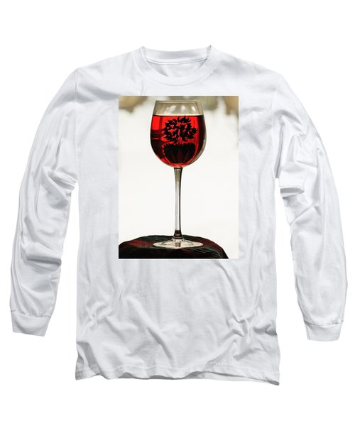 Glass Of Wine... Long Sleeve T-Shirt by Al Fritz
