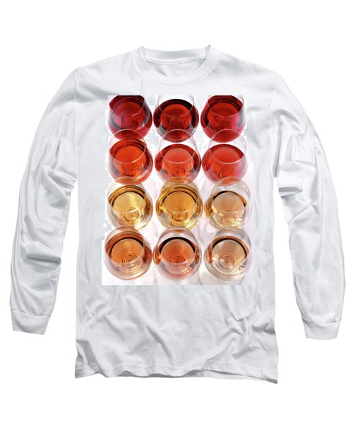 Glasses Of Rose Wine Long Sleeve T-Shirt