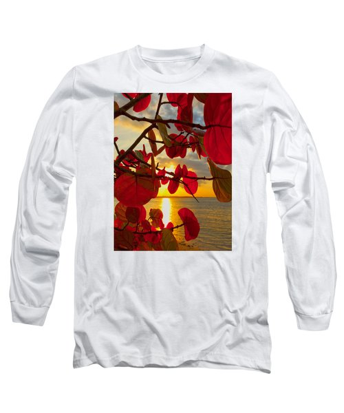 Glowing Red Long Sleeve T-Shirt by Stephen Anderson