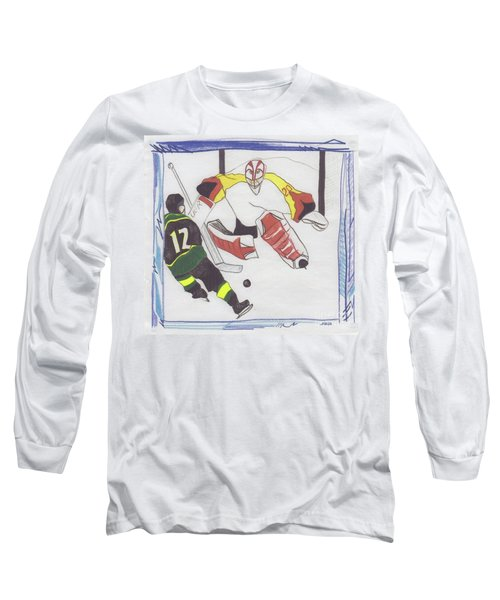 Long Sleeve T-Shirt featuring the drawing Shut Out By Jrr by First Star Art