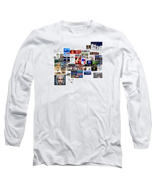 Goal Post Putin Long Sleeve T-Shirt by Peter Hedding
