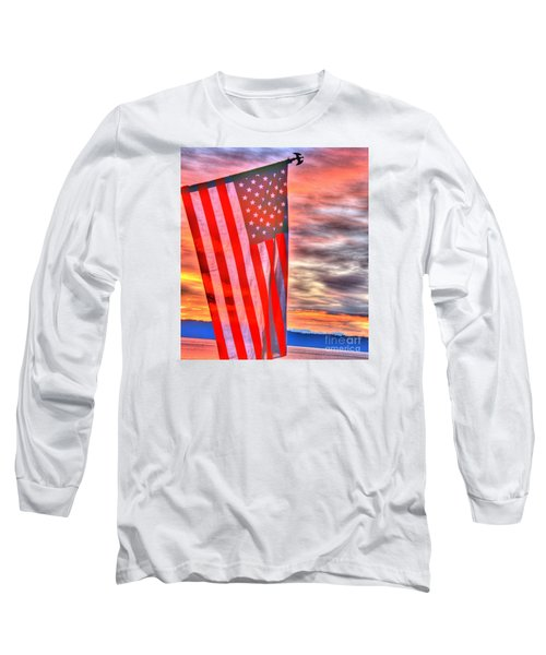 God Bless America Over Puget Sound Long Sleeve T-Shirt