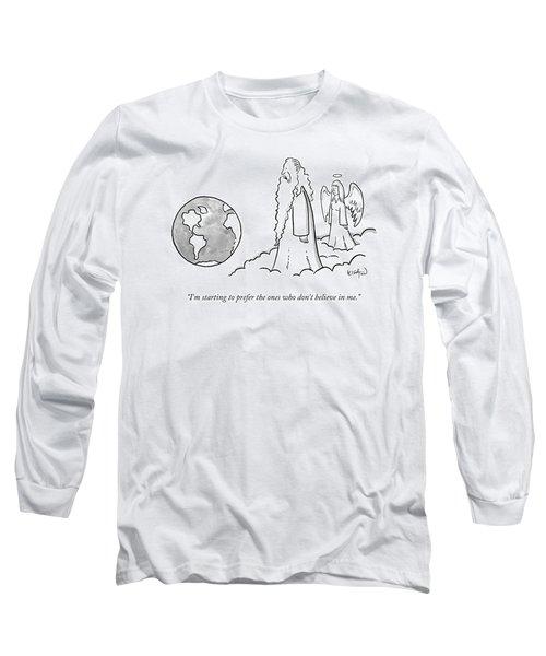 God Looks At Earth Long Sleeve T-Shirt