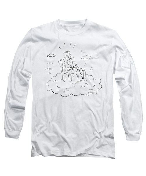 God Sits On A Throne Wearing A Shirt Reading Long Sleeve T-Shirt
