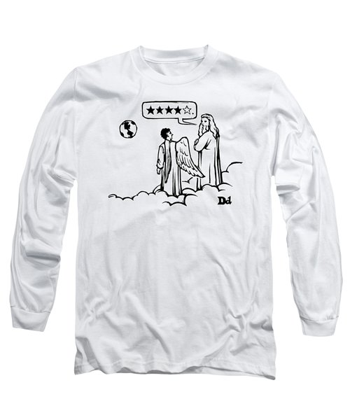 God To An Angel On A Cloud Overlooking Earth Long Sleeve T-Shirt