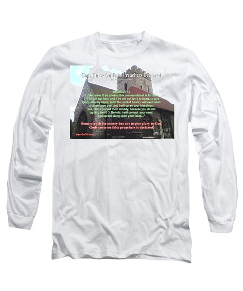 Gods Curse On False Preachers Declared Long Sleeve T-Shirt