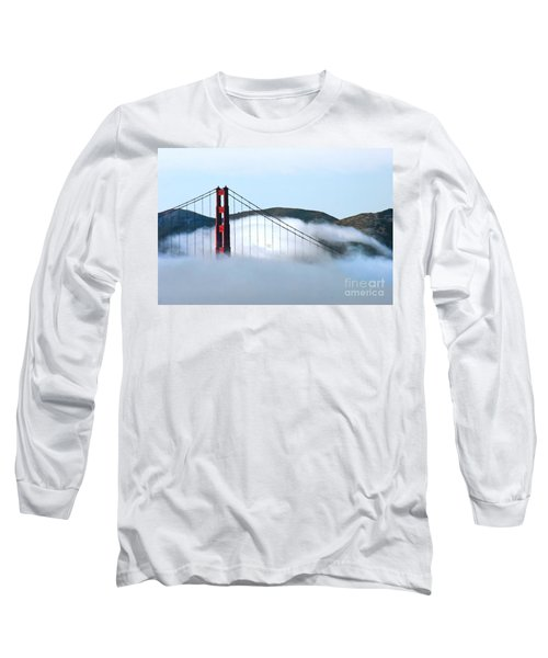 Golden Gate Bridge Clouds Long Sleeve T-Shirt