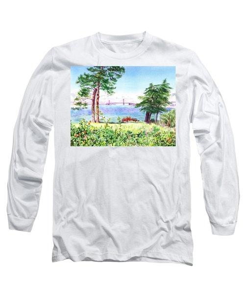 Golden Gate Bridge View From Lincoln Park San Francisco Long Sleeve T-Shirt