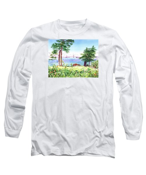Golden Gate Bridge View From Lincoln Park San Francisco Long Sleeve T-Shirt