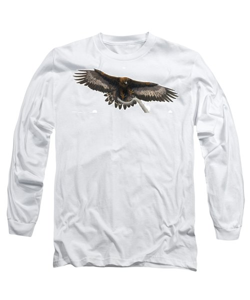 Long Sleeve T-Shirt featuring the painting Golden Landing by Pat Erickson