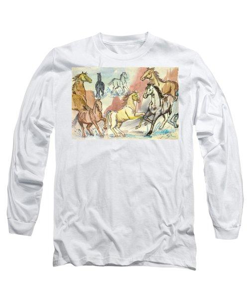 Golden Mare Long Sleeve T-Shirt