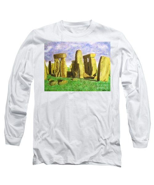 Golden Stonehenge Long Sleeve T-Shirt