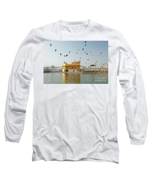 Golden Temple In Amritsar Long Sleeve T-Shirt by Yew Kwang