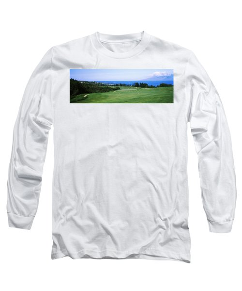 Golf Course At The Oceanside, Kapalua Long Sleeve T-Shirt