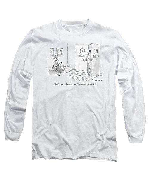 Good News - A Four-letter Word For 'earthen Pot' Long Sleeve T-Shirt