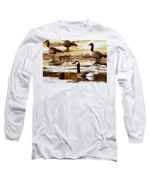 Goose Abstract Long Sleeve T-Shirt
