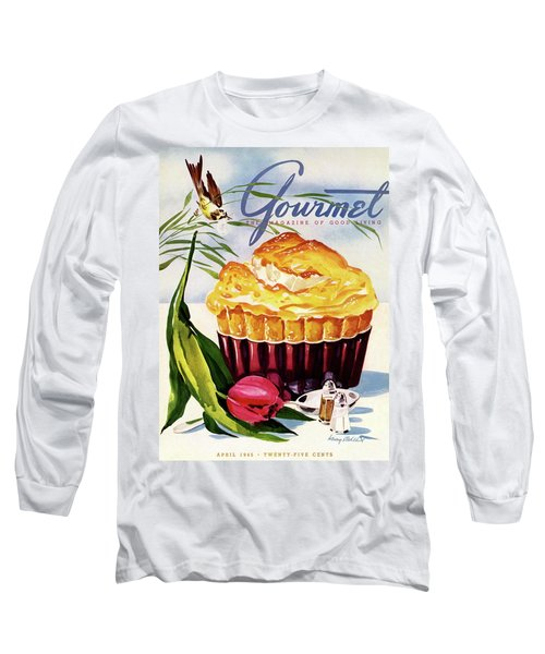 Gourmet Cover Illustration Of A Souffle And Tulip Long Sleeve T-Shirt