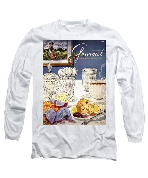 Gourmet Cover Illustration Of Cranberry Muffins Long Sleeve T-Shirt
