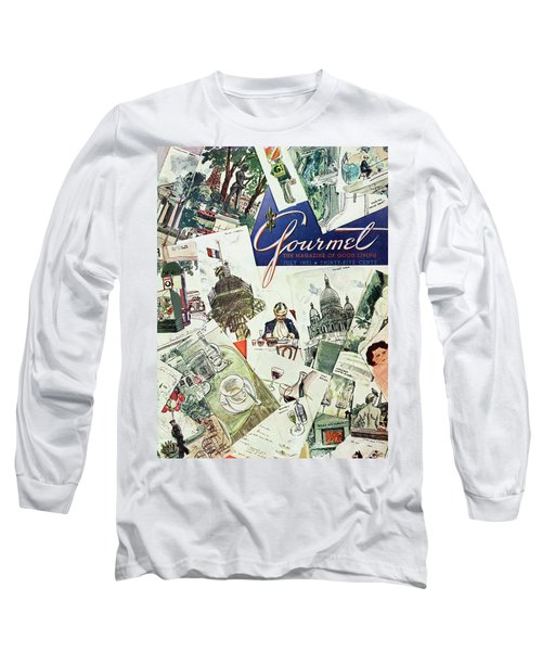 Gourmet Cover Illustration Of Drawings Portraying Long Sleeve T-Shirt