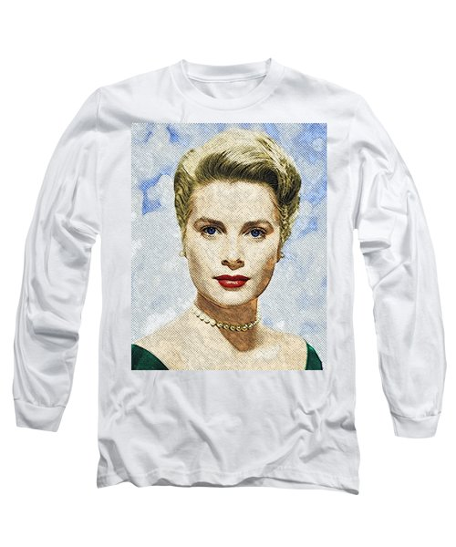 Grace Kelly Long Sleeve T-Shirt by Taylan Apukovska