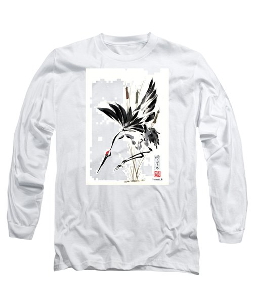 Grace Of Descent Long Sleeve T-Shirt by Bill Searle