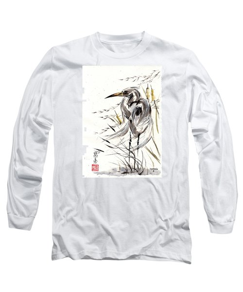 Long Sleeve T-Shirt featuring the painting Grace Of Solitude by Bill Searle