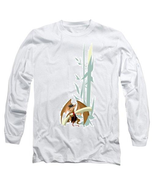 Graduation Dragon With Bamboo Long Sleeve T-Shirt