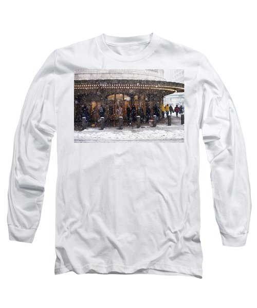 Grand Central Terminal Snow Color Long Sleeve T-Shirt