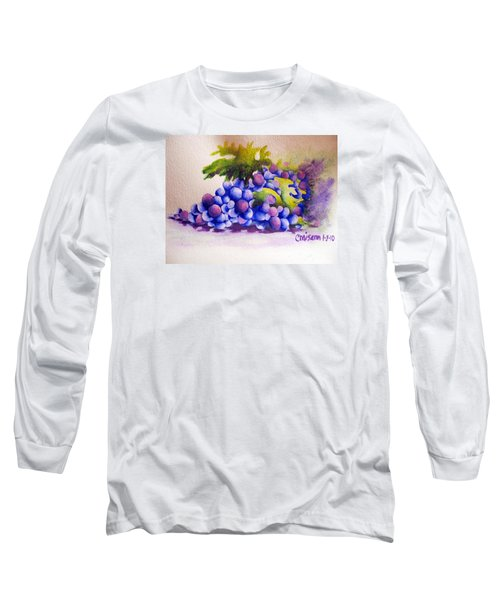 Long Sleeve T-Shirt featuring the painting Grapes by Chrisann Ellis
