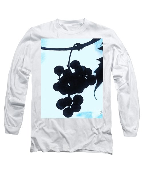 Long Sleeve T-Shirt featuring the drawing Grapes by D Hackett