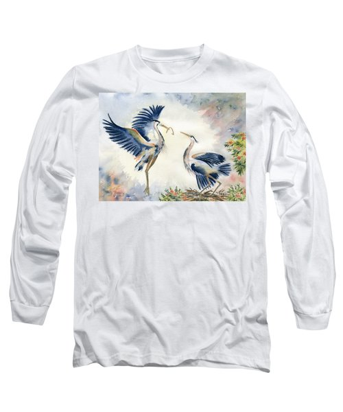 Great Blue Heron Couple Long Sleeve T-Shirt