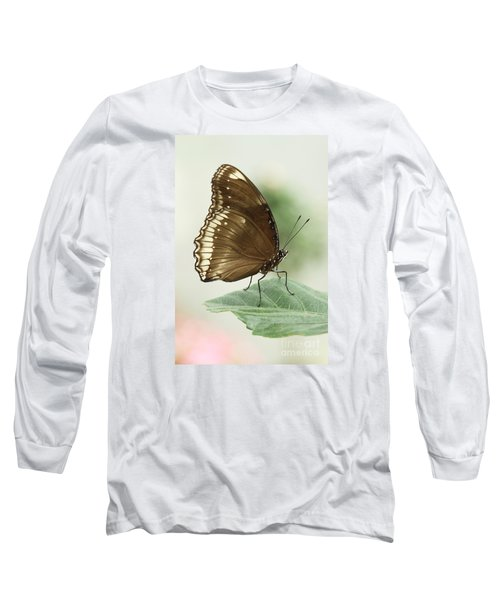 Great Eggfly Butterfly Long Sleeve T-Shirt by Judy Whitton