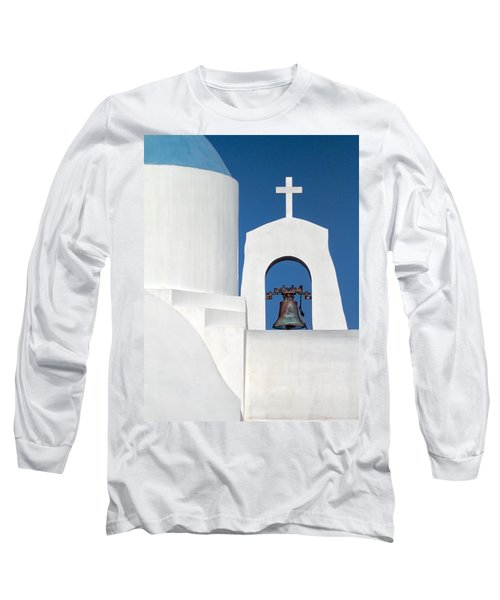 Greek Island Church Long Sleeve T-Shirt