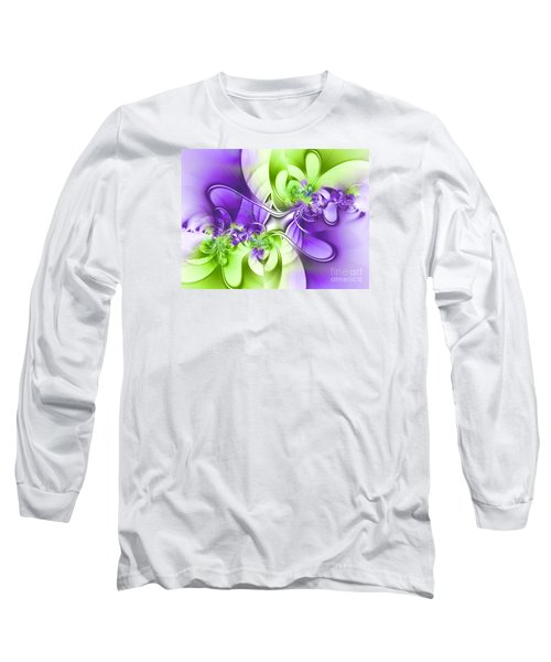 Green And Purple Long Sleeve T-Shirt by Lena Auxier