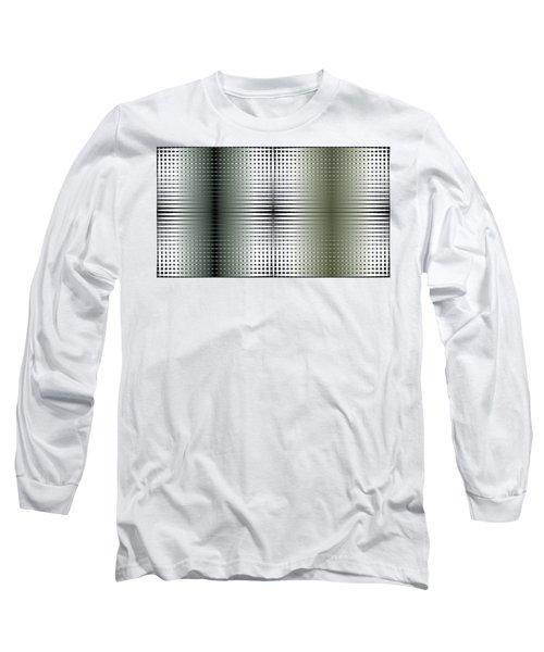 Green/gold Grid Long Sleeve T-Shirt by Kevin McLaughlin