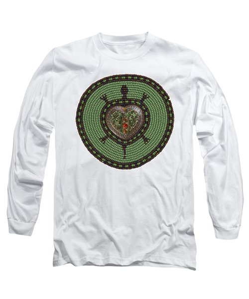 Green Heart Turtle Long Sleeve T-Shirt