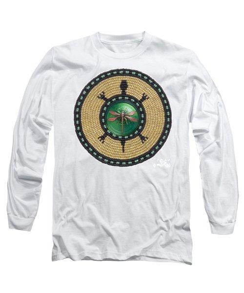 Green Jewel Dragonfly Turtle Long Sleeve T-Shirt